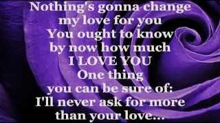 GLENN MEDEIROS - Nothing's Gonna Change My Love For You (Lyrics)