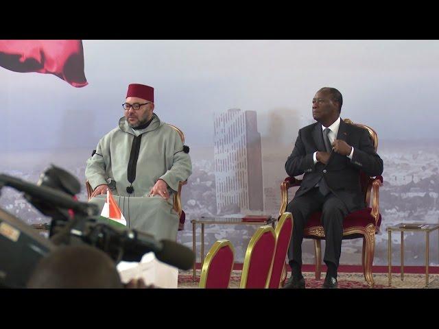 Visite Roi en Côte d'IVoire : SIGNATURE DE CONVENTIONS