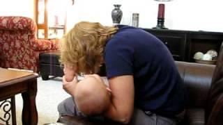 Nana giving Jackson Rasberries on his belly