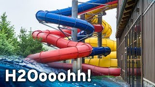 INDOOR WATERPARK IN PENNSYLVANIA: H2Oooohh! at Split Rock Resort (All Slides POV)