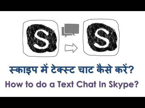 How to Chat on Skype? How to have a Group Chat in Skype? Hindi video by Kya Kaise