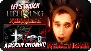 A WORTHY OPPONENT!| LET'S WATCH Hellsing Ultimate Abridged Episode 8 REACTION!