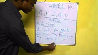 Use of vowels and articles in english grammar Part 1 ( In Bengali language)