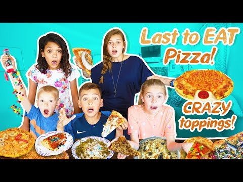 Last to Eat PIZZA WINS with CRAZY Toppings