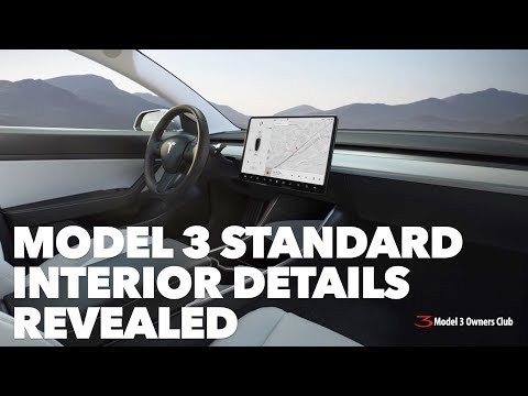 Xxx Mp4 Model 3 Standard Interior Details Revealed 3gp Sex