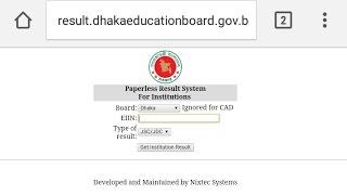 Institution Result JSC SSC HSC For Bangladesh