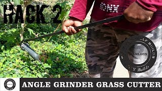 How To Make Powerful Grass Cutter | Angle Grinder Hack | Home made Tools | Diamleon Diy Builds