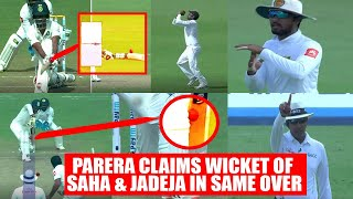 India vs SL 1st test 3rd day: Saha & Jadeja out in one over, Parera strikes for visitors   Oneindia