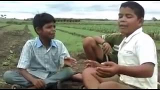 Mazya bhimachi punyaai Angathi  sonyachi botala awesome singing by small village kids