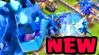 """Town Hall 12 New Troop """"ELECTRO DRAGON"""" Gameplay!! - Clash Of Clans Town Hall 12 Update"""