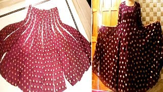 How to make Anarkali dress without joint |DIY| & intro of My new channel