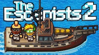 STEALING a SHIP and ESCAPING an Oil Rig! - The Escapists 2 Gameplay