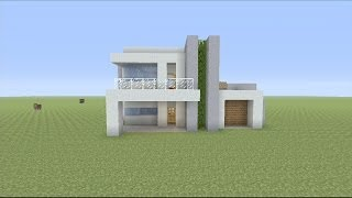 How to Build a Small Modern House in Minecraft