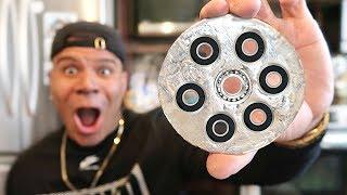 DIY GIANT GALLIUM FIDGET SPINNER!! (WORLD