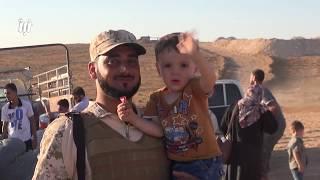 شاهد كيف يتوافد العشرات من اللاجئين السوريين في مخيمات الأردن إلى سوريا