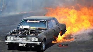 """UCSMOKE"" huge burnout fire at Summernats 31"