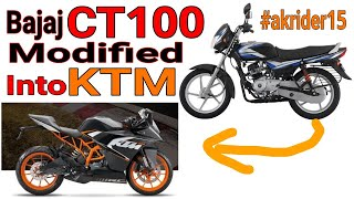 CT100 Modified in KTM for Laddakh Ride | AK Rider 15 | HB VLogs