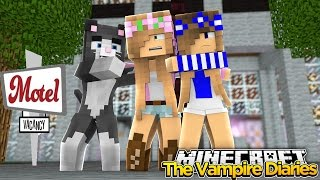 Minecraft - Vampire Diaries-LITTLE KELLY GETS SPOOKED AT A MOTEL!!