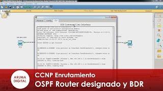Redes CCNP 029 OSPF Router designado DR y BDR