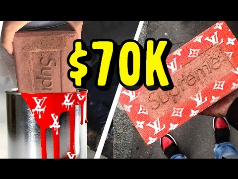 MAKING AND SELLING THE $70,000 NEW SUPREME LOUIS VUITTON BRICK! (NO CLICKBAIT!)