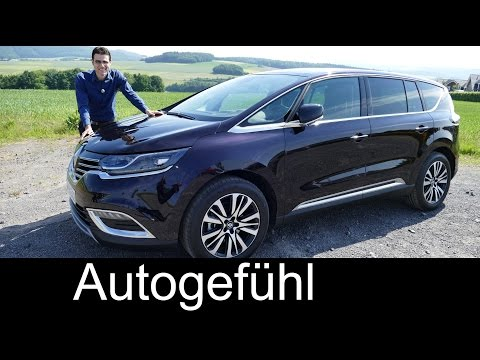 All new Renault Espace Initiale Paris FULL REVIEW test driven MPV Van 2016 top trim Autogefühl
