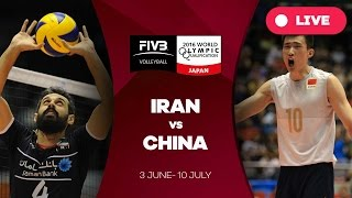 Iran v China - 2016 Men's World Olympic Qualification Tournament