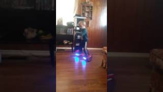 My 3 year old breaking it down on hoverboard