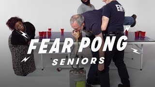 Seniors Play Fear Pong (Samantha vs. Pete)
