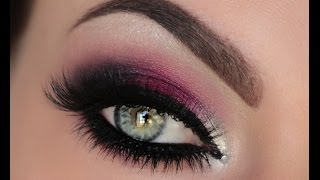 Holiday Berry Silver & Crystal Smokey Eye Tutorial