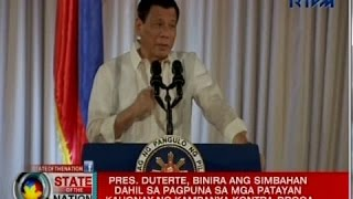 Pres. Duterte, binanatan ang simbahang katoliko na nagsalita laban sa madugong kampanya kontra-droga