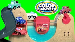 Tomica Cars Color Changers Lightning McQueen Racing Underwater with Doc Hudson Takara Tomy Disney