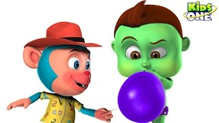 BABY HULK Blowing Giant BALLOONS and Learn COLORS | Bastard Mr Monkey Blast Ballons for Kids
