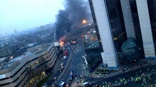 London Vauxhall Helicopter Crash: Interview With Witness