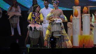 Valeria sorprendió al público cantando Bullerengue