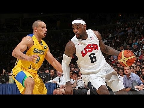 watch Brazil @ USA 2012 Olympic Basketball Exhibition FULL GAME HD 720p English
