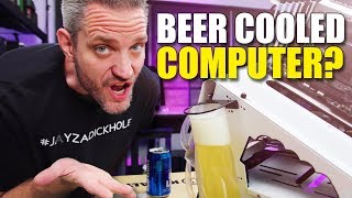 We Watercooled a Computer with BEER! DID IT WORK??????