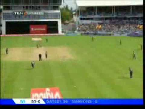 Chris Gayle s powerful hitting 3rd ODI WI vs ENG 2009.