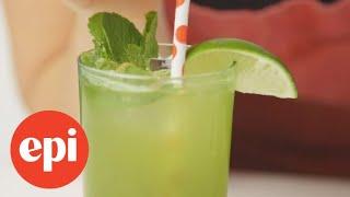 How to Make a Matcha-Mint Sparkler | Epicurious