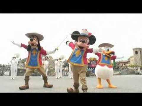 ディズニーシー三銃士 The Three Musketeers Mickey Mouse at Tokyo Disney Sea
