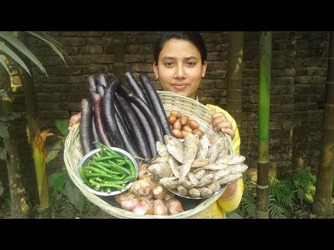 Xxx Mp4 Dry Fish Brinjal Curry Recipe Village Style Cooking By Street Village Food 3gp Sex