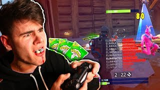 Eating 100 Warheads For Every Kill In Fortnite: Battle Royale Goes Wrong... | David Vlas