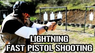 EXTREMELY FAST PISTOL SHOOTING DRILLS  (Do Not Try This At Home)