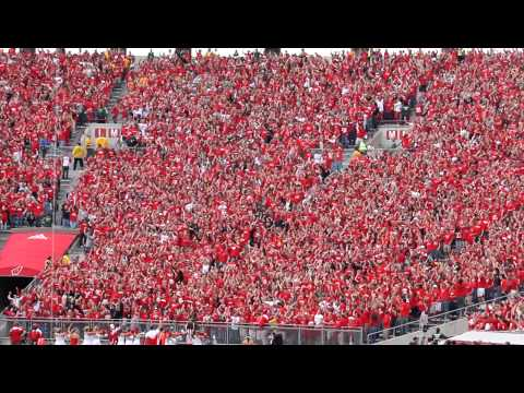 WISCONSIN JUMP AROUND in student section at Camp Randall Madison