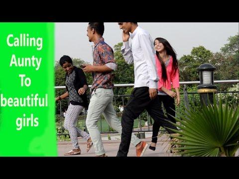 Calling Aunty To Beautiful Girls Prank by SAADE SAATI
