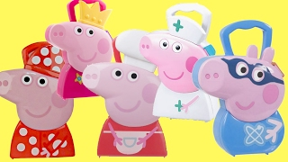 Compilation Peppa Pig Carry Case, Fairy Princess Nurse, Chef, Bedtime Superhero George IRL Toy /TUYC