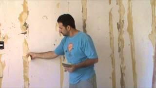 Como quitar el papel mural muy facil