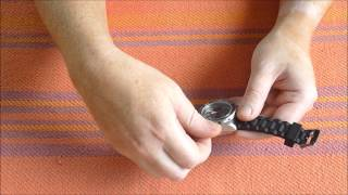 REMOVING WATER FROM A WATCH