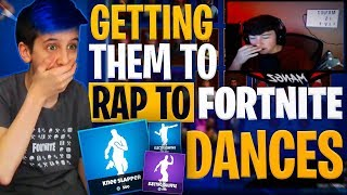 Getting Streamers to Rap to Fortnite Emotes (CRINGE)