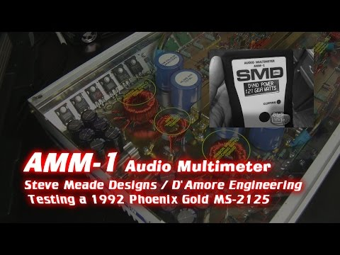 SMD AMM-1 Audio Multimeter and Old School Phoenix Gold MS-2125 Amp