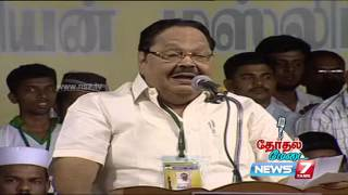 Durai Murugan's speech at Therthal Medai 1/4   Kalam 2016   News7 Tamil
